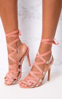 PrettyLittleThing Blush Lace Up Heels