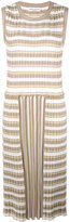 Sonia Rykiel pleated striped dress - women - Cotton/Triacetate - S