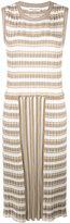 Sonia Rykiel pleated striped dress - women - Cotton/Triacetate - S