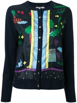 Muveil printed cardigan - women - Cotton/Polyester/Wool - 38
