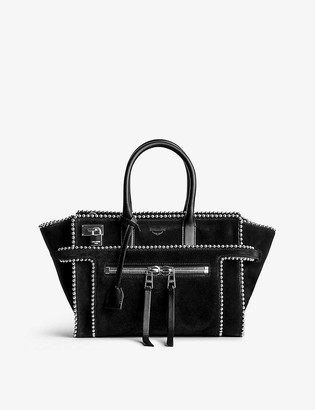 Zadig & Voltaire Candide studded suede tote bag