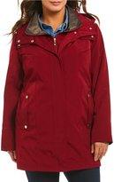 Gallery Plus A Line Water Repellent Detachable Hood Jacket