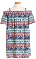 Soprano Girl's Smocked Cold Shoulder Dress