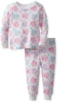 Vitamins Baby Baby-Girls Infant Monkey Print Two Piece Thermal Pajama