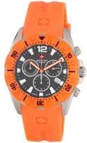 Swiss Military Calibre Men's 06-4M2-04-007.79 Marine Chronograph Textured Dial Orange Rubber Watch