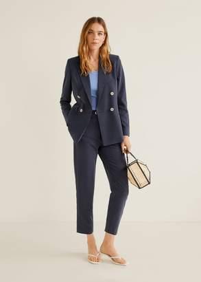 MANGO Modal-blend suit blazer light/pastel grey - 2 - Women
