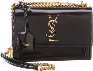 Saint Laurent Sunset Patent Leather Shoulder Bag