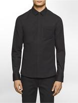 Calvin Klein Platinum Regular Fit Mesh Pocket Long-Sleeve Shirt