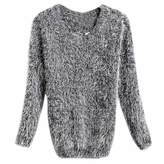 WINSON Hot Women Retro Mohair Loose Oversized Blouse Candy Color Outwear Knit Cardigan