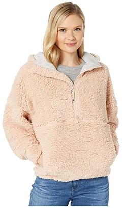 Prana Permafrost 1/2 Zip Hoodie (Champagne) Women's Sweatshirt