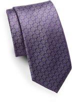 Saks Fifth Avenue Silk Medallion & Floral Tie