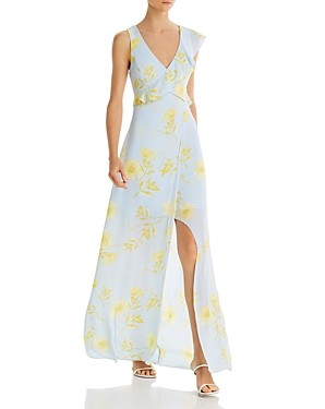 BCBGMAXAZRIA Cutout Floral Print Dress - 100% Exclusive