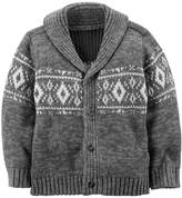 Carter's Boys Shawl Neck Cardigan Sweater; and White (3M)