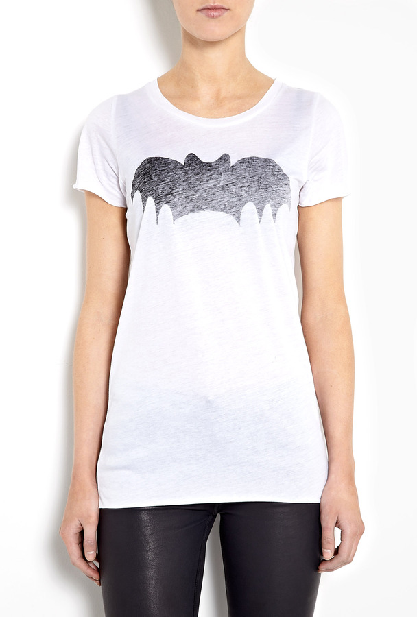 Zoe Karssen White Bat Boyfriend T-shirt