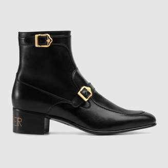 "Gucci Leather boot with ""Sucker"""