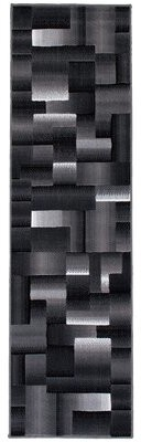 "Orren Ellis Hutchinson High Quality Exclusive Drop-Stitch Ombre Brick Designed Shadow Area Rug Rug Size: Runner 2'3"" x 6'11"""