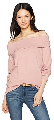Cupcakes And Cashmere Women's Brooklyn Soft Knit Off The Shoulder Sweater