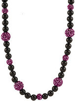 Kenneth Jay Lane As Is Kenneth Jay Lane's Black & Sparkle Bead Necklace