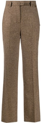 Twin-Set High-Waisted Wide-Leg Trousers
