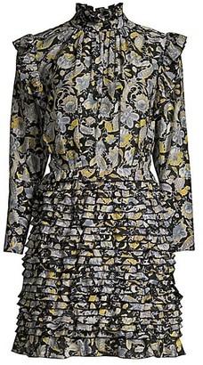 Robert Rodriguez Nikita Cotton & Silk Ruffle Dress