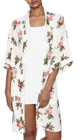 Coveted Clothing Rose Print Robe