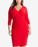 Lauren Ralph Lauren Plus Size Shirred Jersey Dress