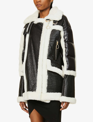 Nicole Benisti Montmartre shearling and shell-down jacket