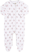 Barneys New York Lion-Print Footed Coverall-WHITE, PINK