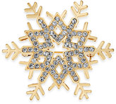 Charter Club Gold-Tone Pavé Snowflake Pin, Only at Macy's