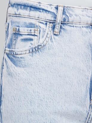 Very Premium High Waist Slim Leg Jeans - Bleach Wash