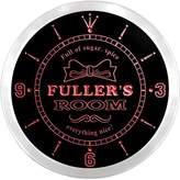 AdvPro Clock ncpe1234-r Fuller's Girl Princess Kids Room Night Light Neon Sign LED Wall Clock