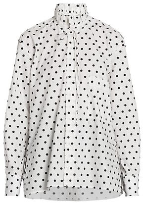 Plan C Polka Dot Cotton Blouse