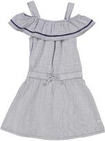 DKNY Heather Gray Ruffle Cutout Dress - Toddler & Girls