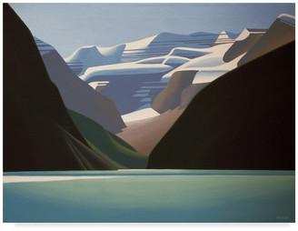 "Parker Trademark Fine Art Ron 'Lake Louise' Canvas Art, 19""x14"""