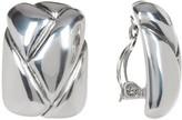 Simon Sebbag Sterling Silver Square Braided Clip-On Earrings