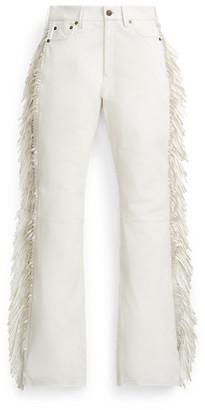 Ralph Lauren Fringe Leather Trouser