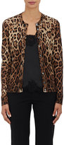 Dolce & Gabbana Women's Leopard-Print Cashmere-Silk Cardigan