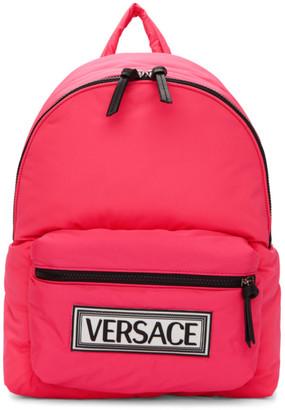 Versace Pink Logo Backpack
