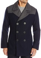 Nautica Men's Color Block Wool Peacoat