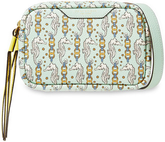 Tory Burch Printed Pebbled-leather Shoulder Bag