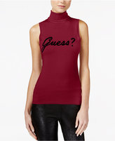 GUESS Sleeveless Graphic Turtleneck