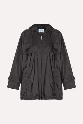 Prada Hooded Shell Jacket - Black
