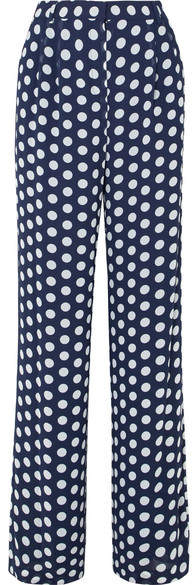 MICHAEL Michael Kors Polka-dot Georgette Wide-leg Pants