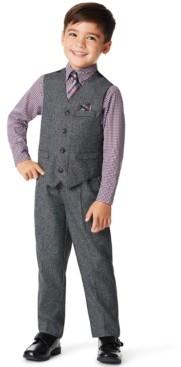 Nautica Toddler Boys Holiday Twist 4 Piece Vest Set