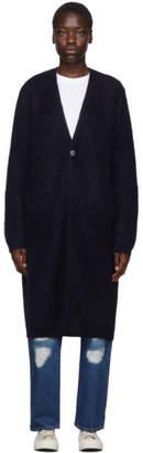 Blue Blue Japan Navy Mohair Long Cardigan