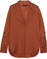 Ellery Explosive Silk-blend Crepe De Chine Shirt - Copper