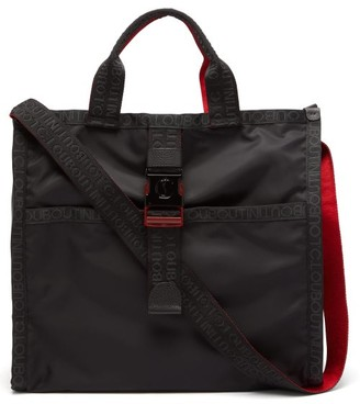 Christian Louboutin Loubiclic Logo Jacquard-trim Tote Bag - Mens - Black