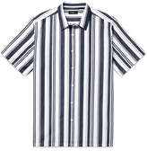 Theory Irving Striped Cotton And Linen-Blend Shirt