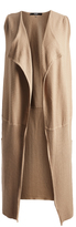 August Silk Camel Ribbed Open Duster