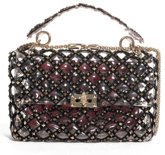Valentino Garavani Medium Spike It Rockstud Transparent Shoulder/Crossbody Bag